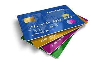 credit cards accepted image of payment cards